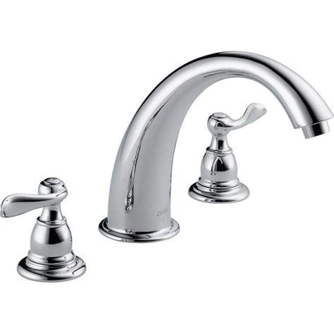 delta windemere 2 handle chrome 8 quot widespread bathroom delta windemere 2 handle deck mount roman tub faucet trim