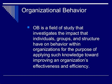 Organizational Behavior Mba Quizlet Chapter 7 11 13 14 by Organizational Behavior Chapter One