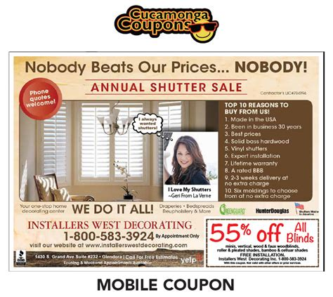 cucamonga coupons home improvement