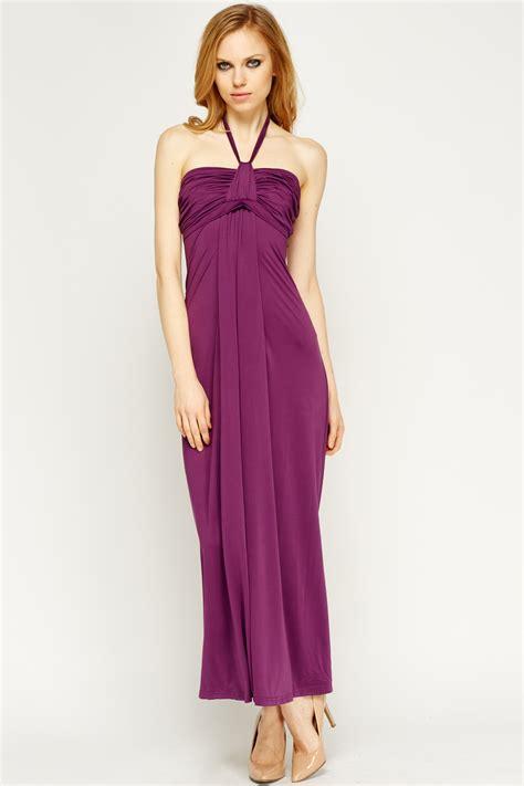 maxi basic knot bandeau maxi basic dress just 163 5