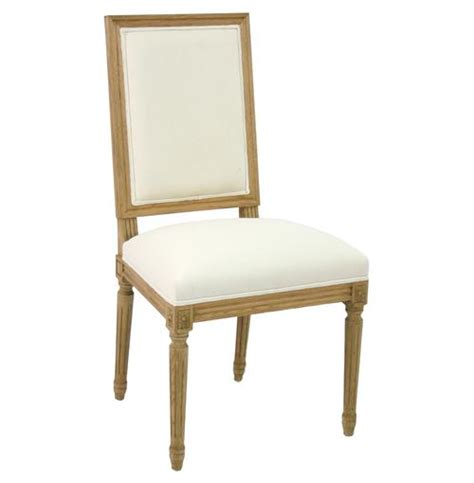 White Country Dining Chairs Pair Louis Country White Cotton Dining Chair Side