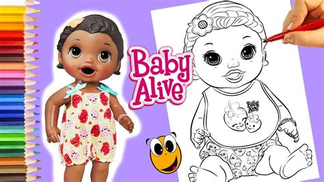 baby alive coloring pages snackin baby alive coloring book pages dolls for