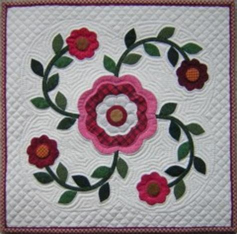 quilt pattern rose of sharon rose of sharon quilt pattern line method applique