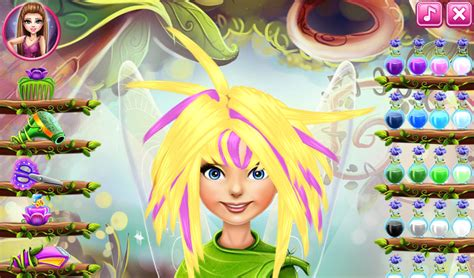 pixie hollow real haircut makeover game dress up games hairdresser games virtual worlds for teens