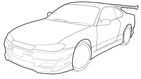nissan silvia drawing nissan silvia drawing