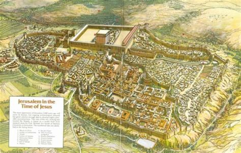 map of ancient jerusalem in jesus time top 10 ancient cities