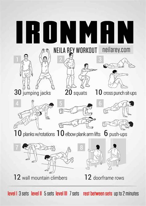 workout plan for men at home iron man workout bodyweight routine pop workouts
