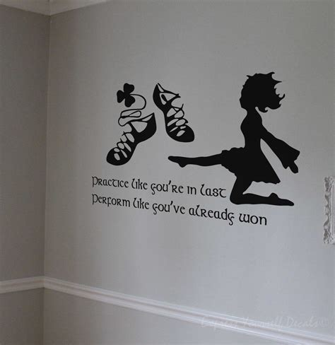 Family Wall Stickers Quotes irish dance practice wall decal wall decal wall art decal