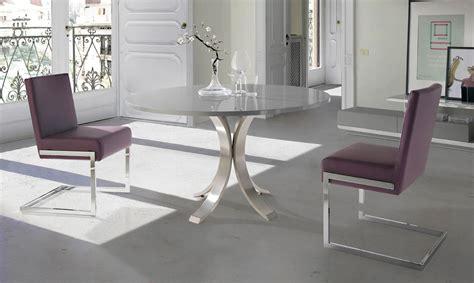 mesa comedor redonda cristal mesa de comedor redonda moderna maddox en portobellostreet es