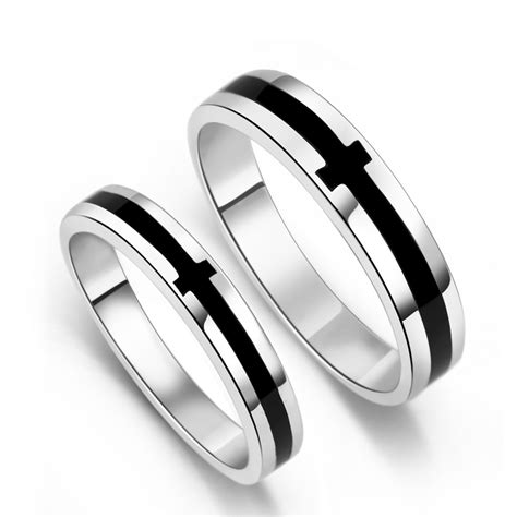 buy cheap his and hers sterling silver rings high quality