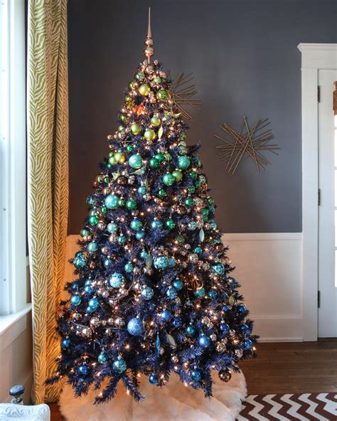 light weight christmas trees navy blue artificial tree treetopia