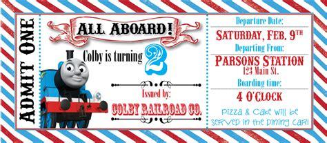 thomas the train ticket party invitation by rawkonversations