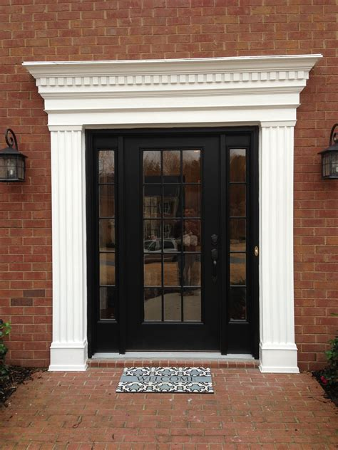 Exterior Door With Window Exterior Window Trim Brick