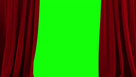 spinning crucifix crimson drapes stock animation of opening curtain on green screen stock