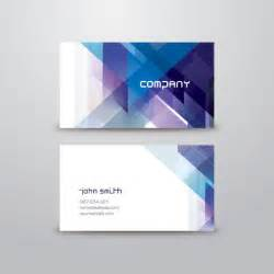 blue abstract business card vector graphic geometrical