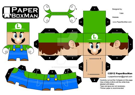Papercraft Luigi - image gallery luigi cubeecraft