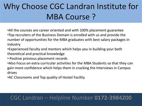 Why You Choose Mba Course by Ppt Best Mba College In Punjab Powerpoint Presentation