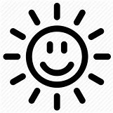 Happy Face Sun Black And White | 512 x 512 png 28kB