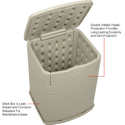 Time Walker Deck Box Small 2 bins totes containers containers deck boxes rubbermaid 3743 outdoor mini deck box 2 6