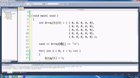 pattern programs in c using array c for games lesson 8 array and 2d arrays youtube