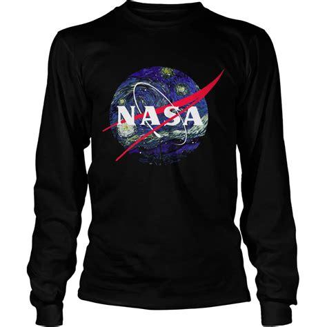 Hoodie Sweater Nasa Premium gogh starry nasa shirt hoodie sweater longsleeve t shirt