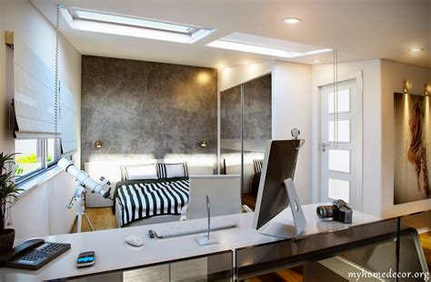 Design Home Office In Bedroom Briliant Design White Black Home Office Bedroom Decosee