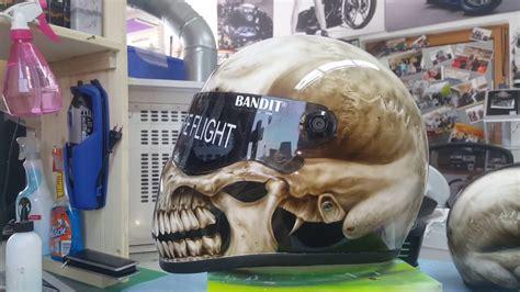 design helm airbrush bandit xxr fighter helm airbrush skull design youtube