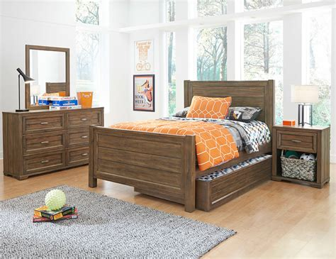 logan bedroom furniture sets pieces furniture macy s my home logan four piece bedroom set in driftwood grey