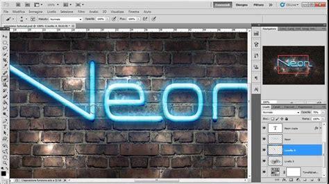 tutorial photoshop neon tutorial photoshop testo con effetto neon youtube