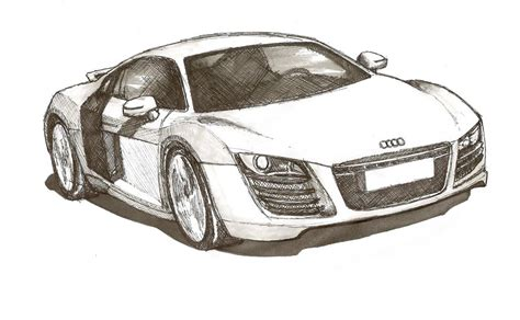 how to draw an audi r8 drawingforall net audi r8 pen sketch by inktheory design on deviantart