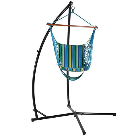 hammock swing stand sunnydaze durable x stand and hanging hammock chair set or