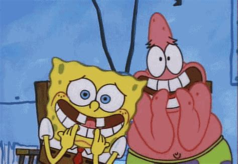 Spongebob Squarepants Ready For Laughs happy gif find on giphy