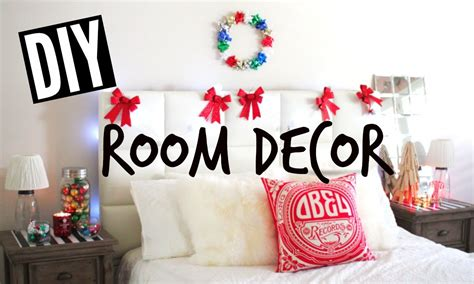 diy holiday room decor easy tumblr christmas room youtube