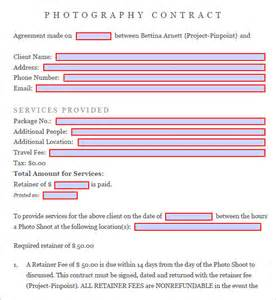 free photography contract templates photography contract 7 free pdf sle templates