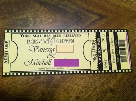 diy tickets template our std ticket magnets weddingbee photo gallery