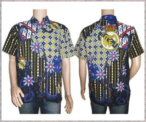 Baju Muslim Koko Bola Madrid kemeja batik bola pusat grosir baju batik modern