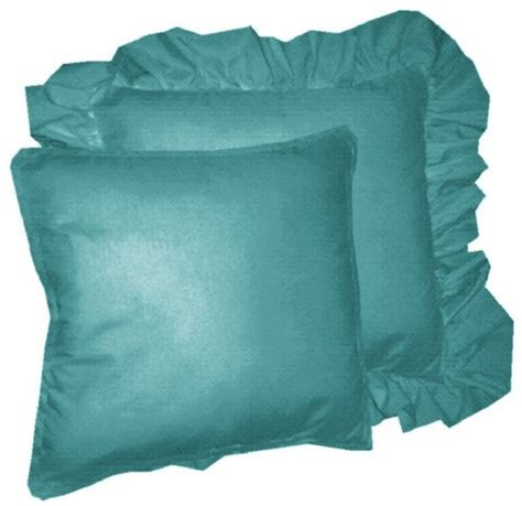 teal colored pillows solid teal colored accent pillow with removable ruffled or