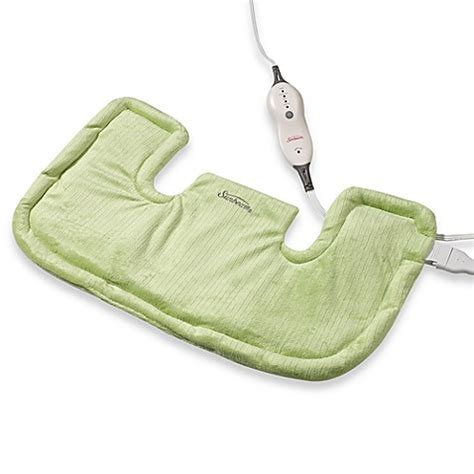 heating pad bed bath and beyond sunbeam 174 renue heat therapy neck shoulder heating pad