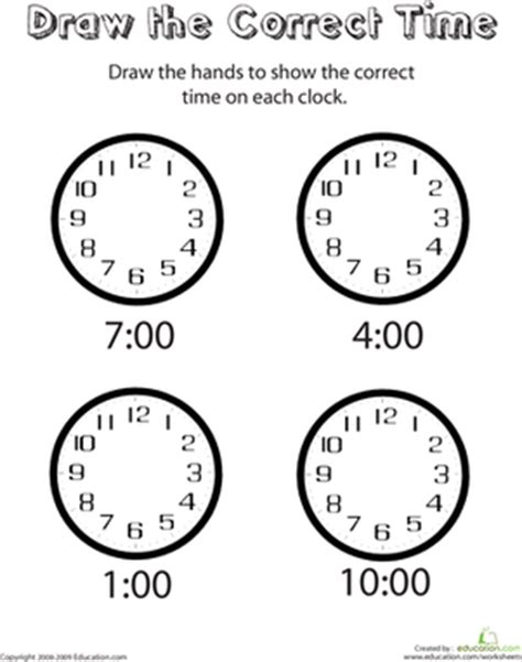 doodle how to add times analog clocks draw the time worksheet education