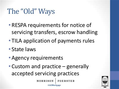 section 6 of respa mortgage servicing transfers meeting the operational and