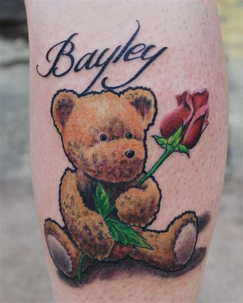 teddy bears tattoos designs teddy with