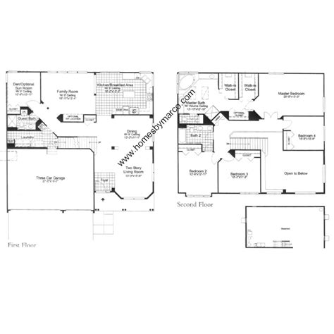 floor plans windsor hills property for sale windsor model in the cambria subdivision in cary illinois