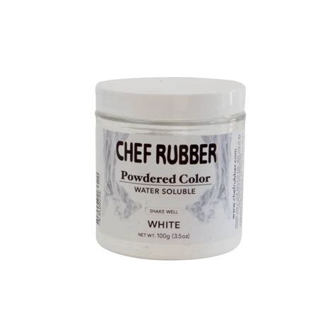chef rubber powdered color water soluble white pastry