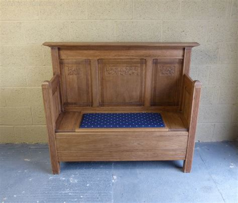settle bench antiques atlas oak settle bench with storage