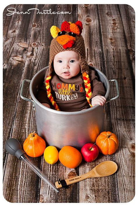 babys thanksgiving turkey baby photography and babies