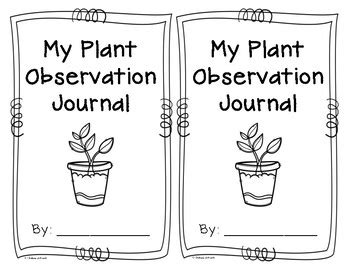 printable plant observation journal my plant observation journal by chelsea schoeck tpt
