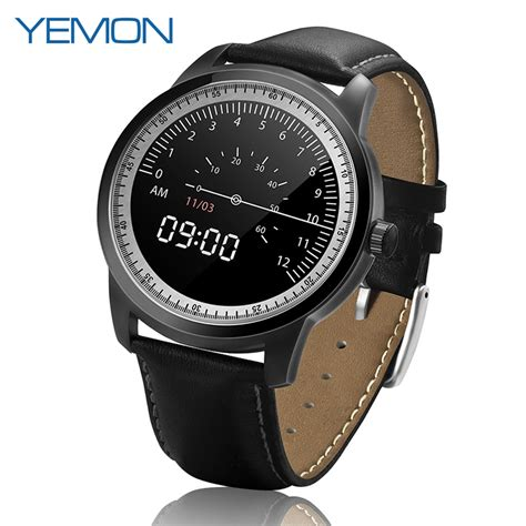 android watches for yemon dm365 bluetooth smart android genuine leather wearale devices smartwatch reloj
