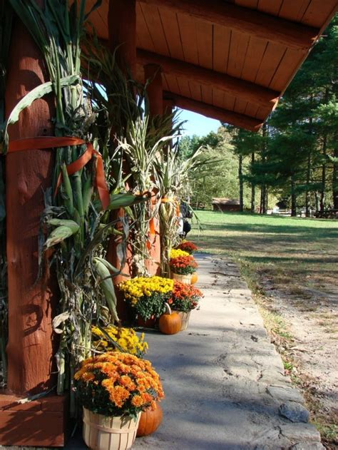 fall decorations with corn stalks entrance decor fall decor corn stalks mums pumpkins