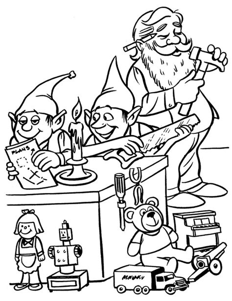 coloring pictures of santa workshop santa s workshop coloring pages