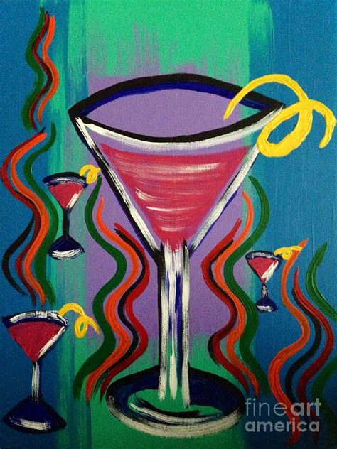 martini twist martini twist painting by darnell glowacki